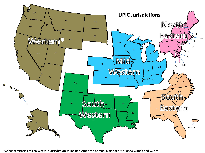 upic jurisdiction map